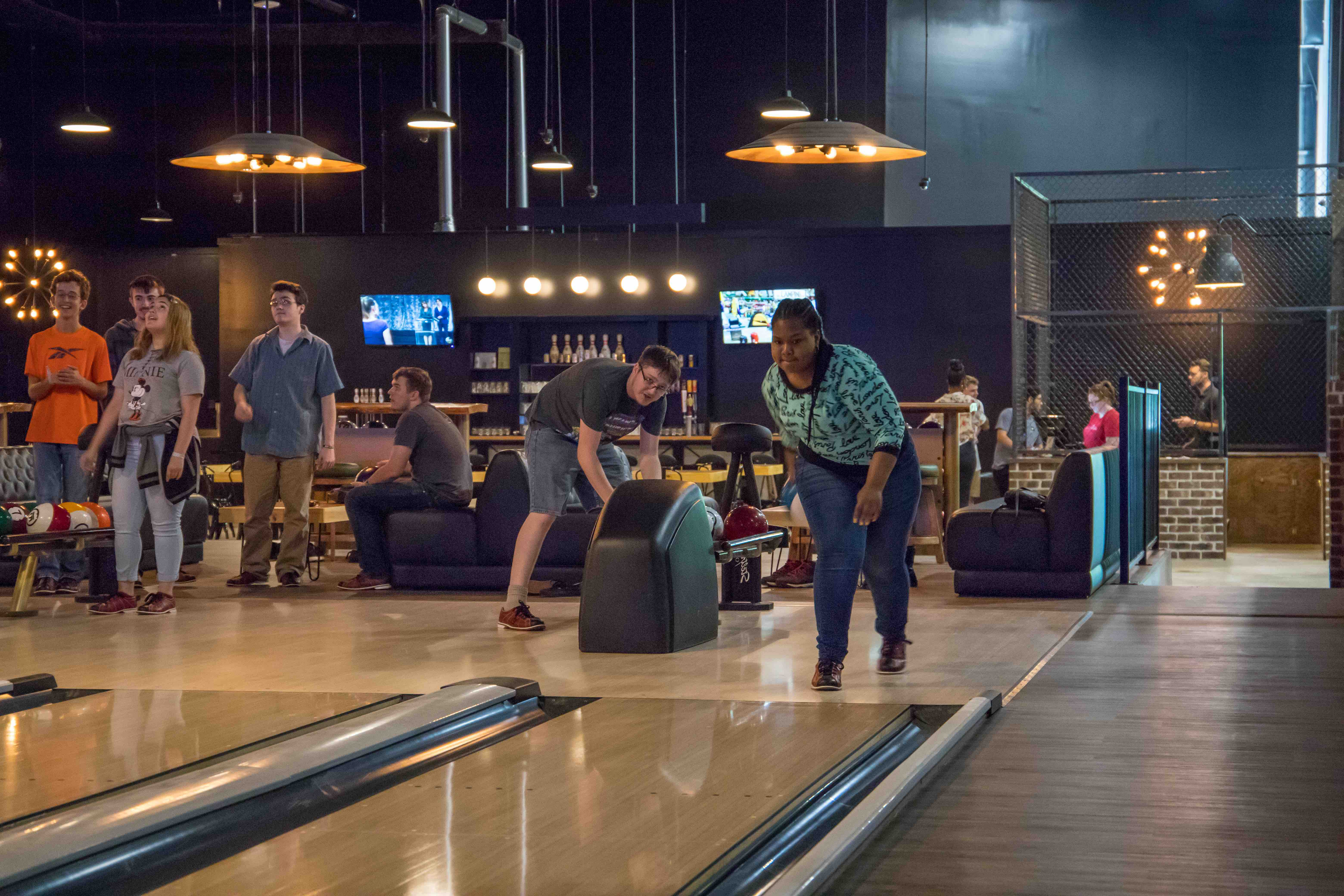 Bowling at the city Forum